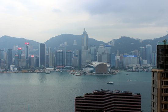 Hotel Panorama by Rhombus : View of the harbor from rooftop garden