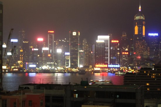 Hotel Panorama by Rhombus : Night view for 16th floor room