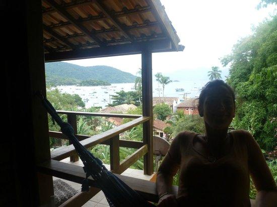 Pousada Tagomago Beach Lodge : Vista desde la habitación y hamaca