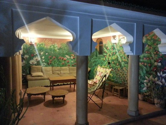 Dar Malaika : Terrasse et sa superbe fresque