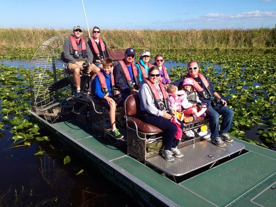 Florida Cracker Airboat Rides & Guide Service : Our family on the boat!