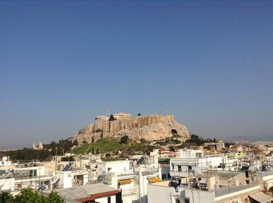 The Athens Gate Hotel : Acropoli view from roof top cafe
