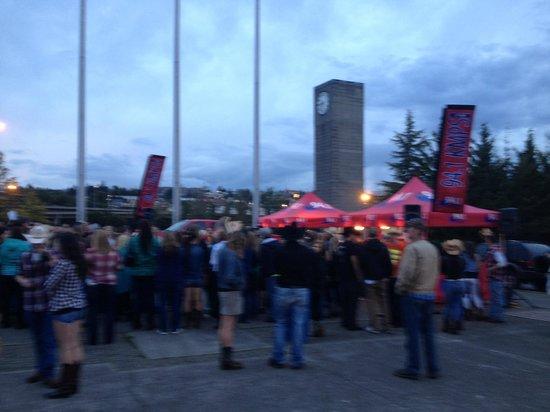 Tacoma Dome : Taigate avant le show