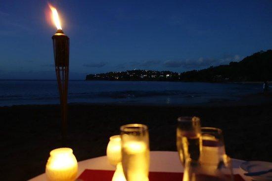 Sandals Regency La Toc: Candlelit dinner