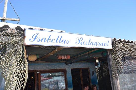 Isabella's Restaurant: Isabella's sign