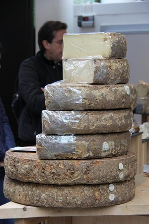 Fat Tire Bike Tours - London: cheese at the market