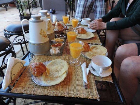 Riad Agdim : le petit déjeuner