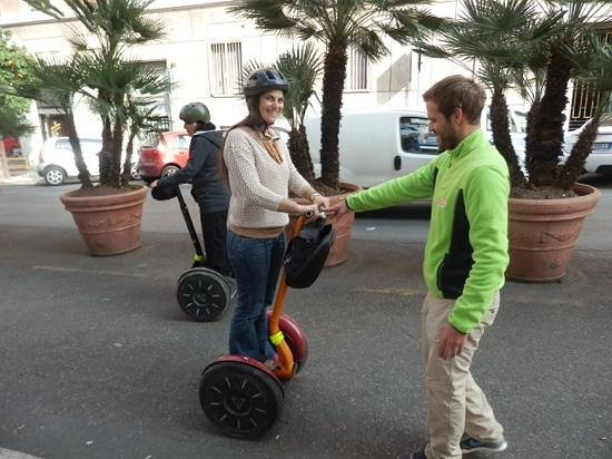 Rome by Segway: training...