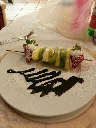 Hotel Il Castello : Spiedino di frutta