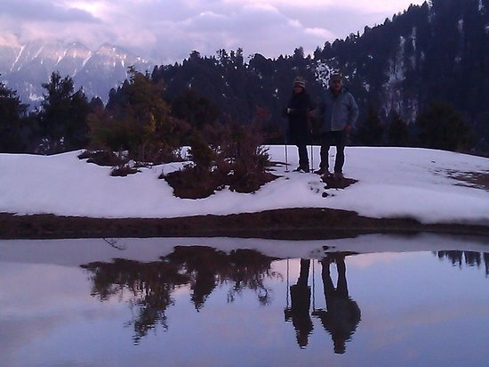 Himalayan Orchard Huts: Reflections in a tarn at Ridgmoor
