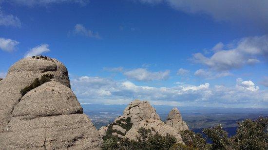 Montserrat Monastery : mountain view