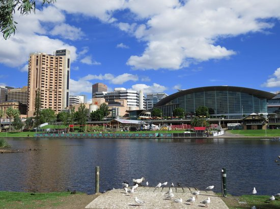 InterContinental Adelaide: View looking across to hotel from the river