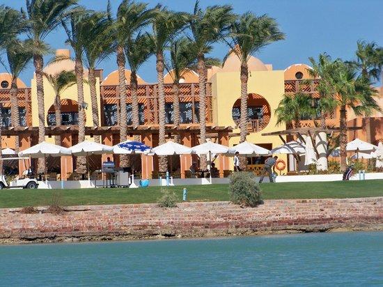 Steigenberger Golf Resort : Vom Wasser aus zur Mittagszeit, Schnuppergolf.