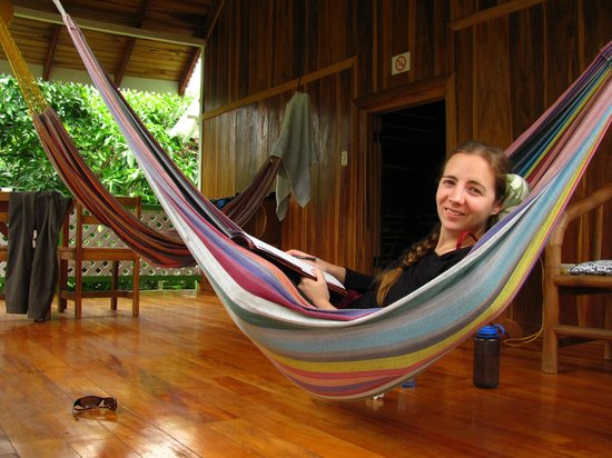 Chimuri Beach Retreat: On the porch enjoying the hammock