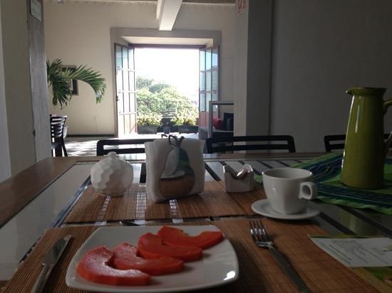 Hostal Casa Balché: View from breakfast/dining room