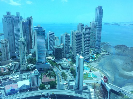 Hard Rock Hotel Panama Megapolis: View from hotel room 51st floor, oceanside