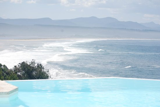View of bay and mountains from SeaFood at the Plettenberg