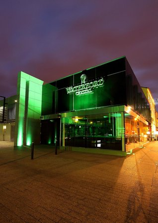 Greening of the House of Waterford Crystal for St Patrick's Day