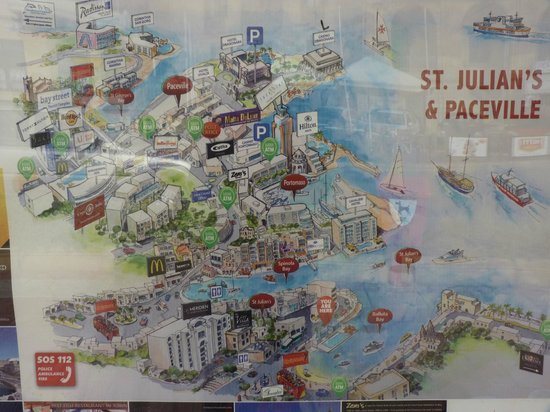 Portomaso Marina: Map of St. Julian's.