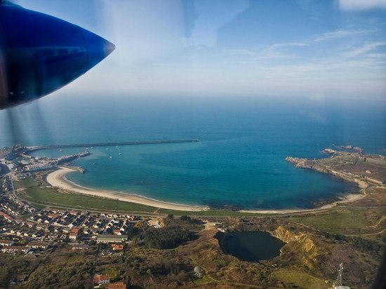 Braye Beach Hotel: View from the plane over Alderney