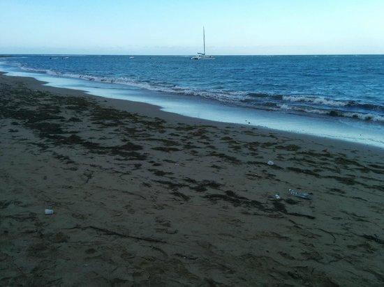 BlueBay Villas Doradas Adults Only: Dirty Beach after rain