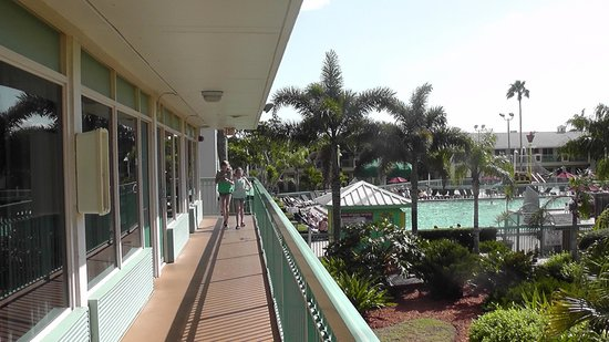 International Palms Resort & Conference Center Cocoa Beach : Taken outside room in the 200's