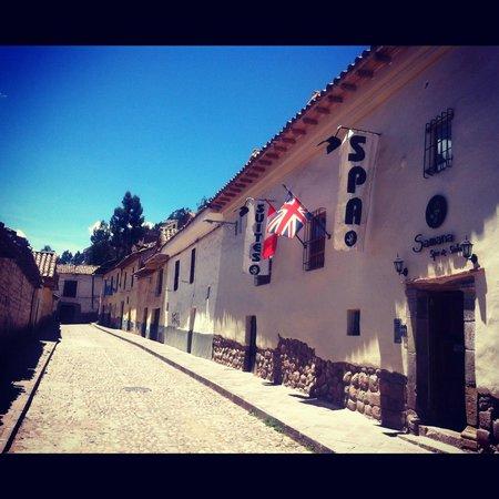 Samana Inn & Spa: the entrance and the street