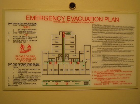 Emergency Evacuation Plan Picture Of Hilton Garden Inn