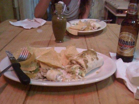 !Orale Guey!: burrito with chile verde