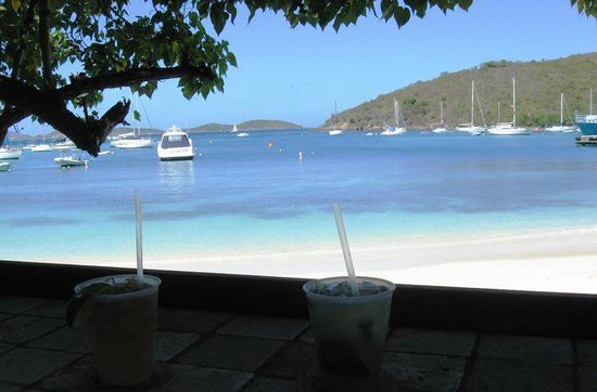 Joe's Rum Hut: Order a happy hour drink and enjoy the view!
