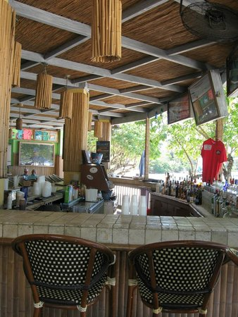 The bar at Joe's Rum Hut