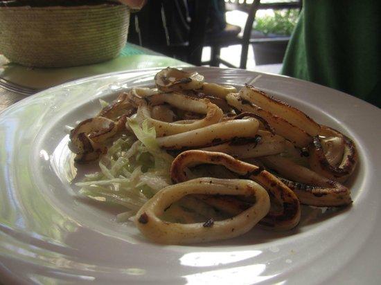 Calypso´s Comida Mexicana y Mariscos: Grilled calamari