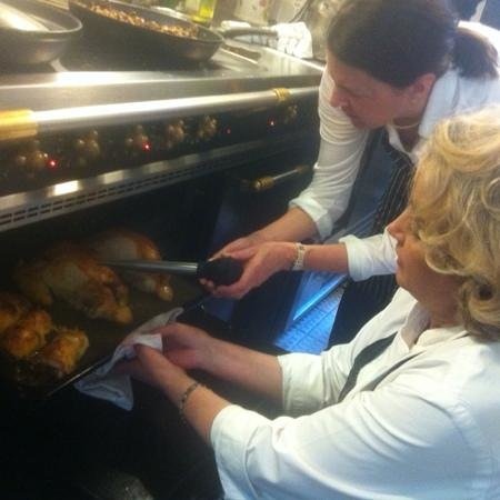 Catherine Reed Cooking Classes : chicken in progress