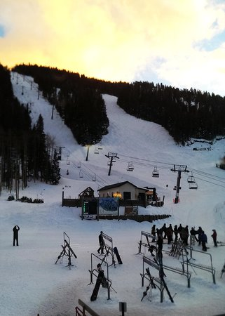 Taos Ski Valley: About 30 minutes before sundown.