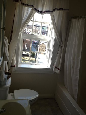 Old Talbott Tavern: The bathroom with a view in the Anton Heinrich Room. Do not shut the door all the way....the doo