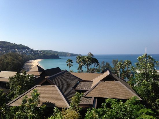Pullman Phuket Arcadia Naithon Beach: View from our bed. Room 3103.
