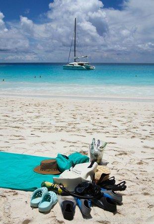 Constance Lemuria: Anse Georgette beach