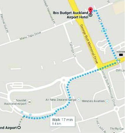 mud map Picture of Ibis budget Auckland Airport Mangere TripAdvisor