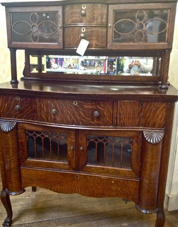 Cannery Row Antique Mall: 1900 tiger oak sideboard- upstairs