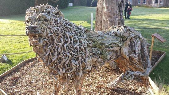 The Oakley Court: Lion sculpture