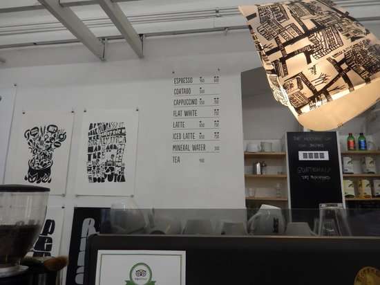 Printa Cafe: Coffee Menu