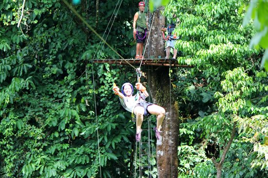 Quepo Canyoning: zip line