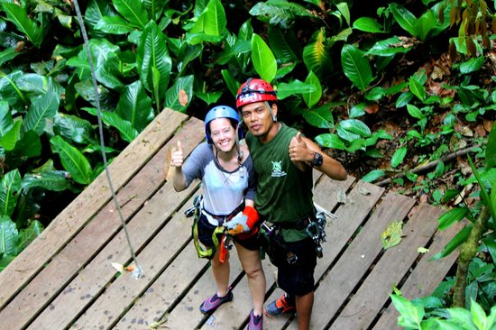 Quepo Canyoning: My wife and Allan,