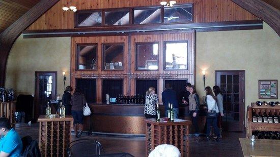 Anyela's Vineyards: Tasting area.