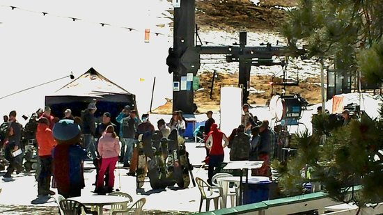 Hollywood film crew on location at Snow Valley ski area