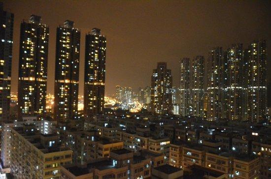 Dorsett Mongkok Hong Kong: Aussicht bei Nacht