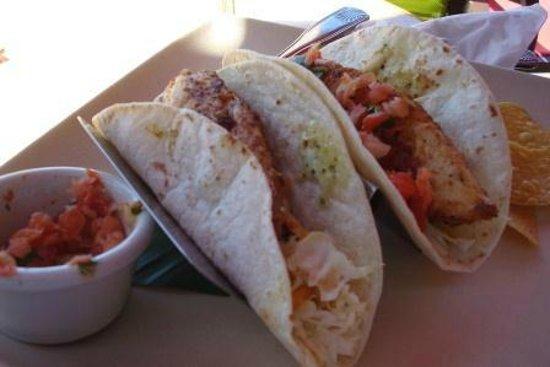 Leilani's On The Beach: Fish tacos - Leilani's On The Beach, Whaler's Village, 2435 Kaanapali Pkwy, Kaanapali, Maui, Haw