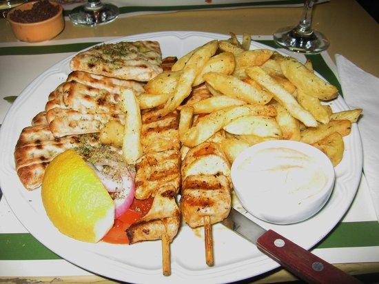 Lithos: chicken slouvaki-- SO DELICIOUS!