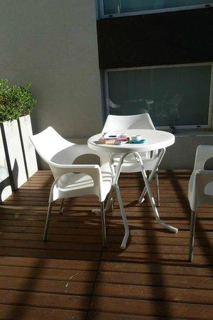 Hotel del Solar: balcon terraza!
