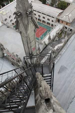 Basílica: the vertigo-inducing stairway on the north tower